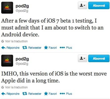 Pod2G sur le point de quitter iOS 7 pour Android ?