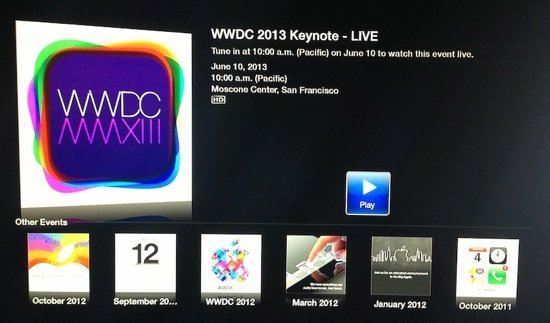 Keynote WWDC 2013 : diffusée en direct par Apple