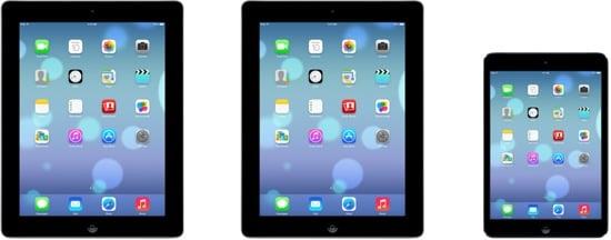 iOS 7 : nouvelles icônes et aperçu iPad