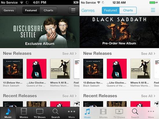 iOS-7-vs-iOS-6-iTunes