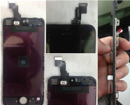 iPhone 5S : photos de l'écran et de la carte mère