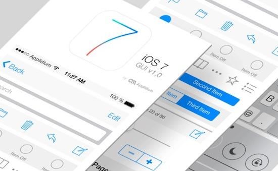 iOS 7 : le GUI PSD à télécharger