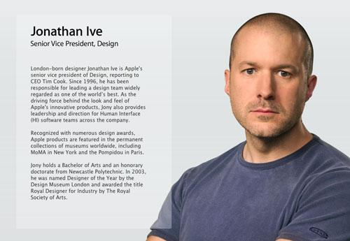 Apple : Jonathan Ive devient vice-président du design