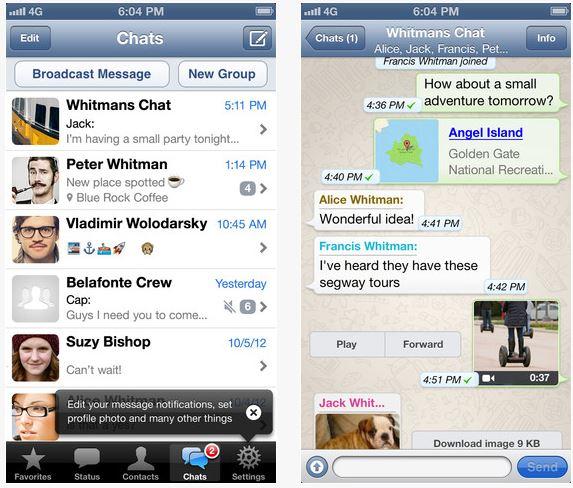 Mise à jour : WhatsApp Messenger gratuit sur l'App Store