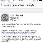 iOS 7 bêta 4 disponible