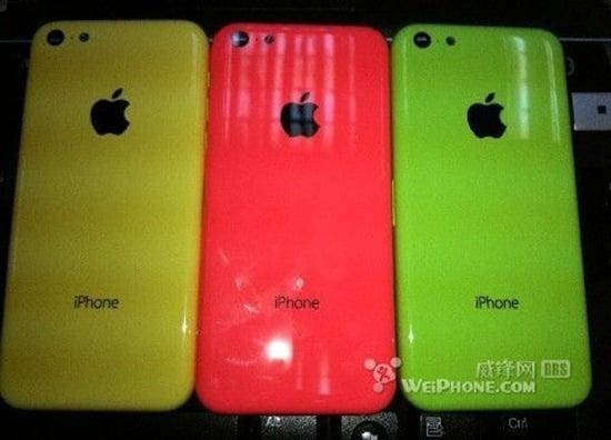 iPhone low cost : photos de modèles jaune, rouge et vert ?