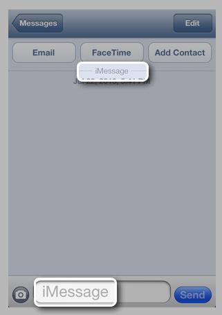 iMessage : possibilité de signaler les spams