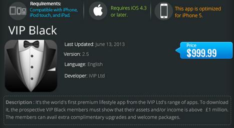 Infographie : les 16 applications les plus chères de l'App Store