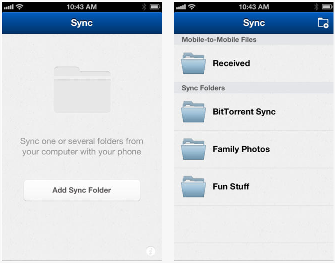 BitTorrent Sync disponible sur l'App Store
