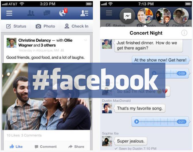 Facebook iOS 6.4 : ajout des #hashtags