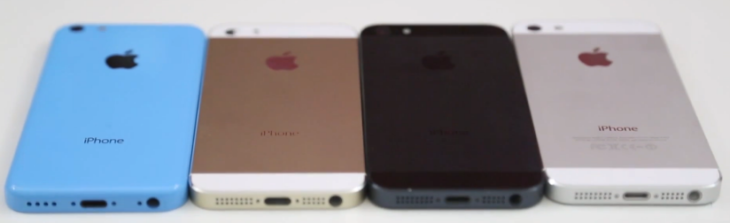 Vidéo : iPhone 5S or/champagne vs iPhone 5C vs iPhone 5