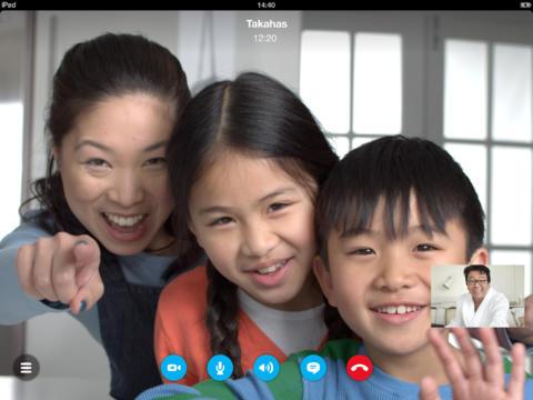 Skype : ajout des appels vidéo HD sur iPad 4