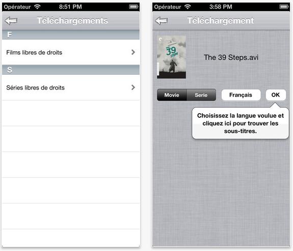 SubtitleFinder : télécharger les sous-titres depuis son iPhone