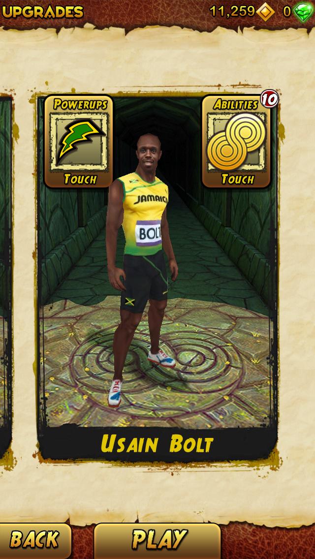 Temple Run 2 (v1.4) : ajout du personnage d'Usain Bolt