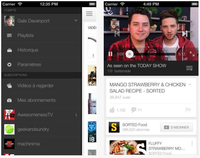 YouTube iOS 2.0 : nouvelles icône, interface et lecture continue