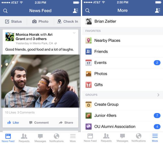Facebook iOS : ajout de l'édition des statuts et commentaires