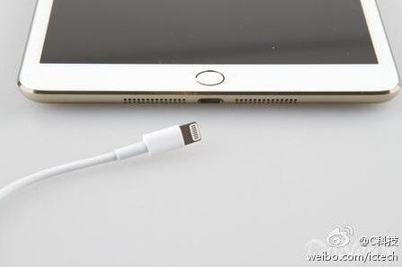 iPad Mini 2 : photos d'un modèle or avec Touch ID