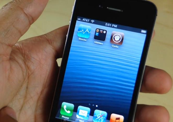 Jailbreak iOS 6.1.3 : une vidéo de Cydia sur un iPhone 4S