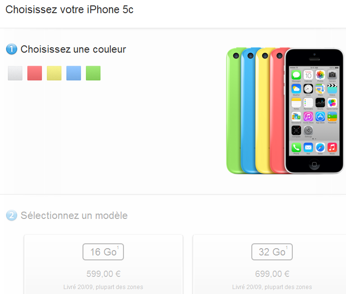 iPhone 5C : prix des précommandes Apple, Sosh, SFR, Orange, Virgin, Free Mobile