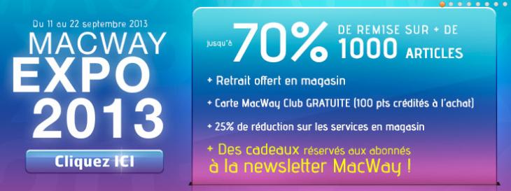 MacWay Expo 2013 : bons plans et jeu concours
