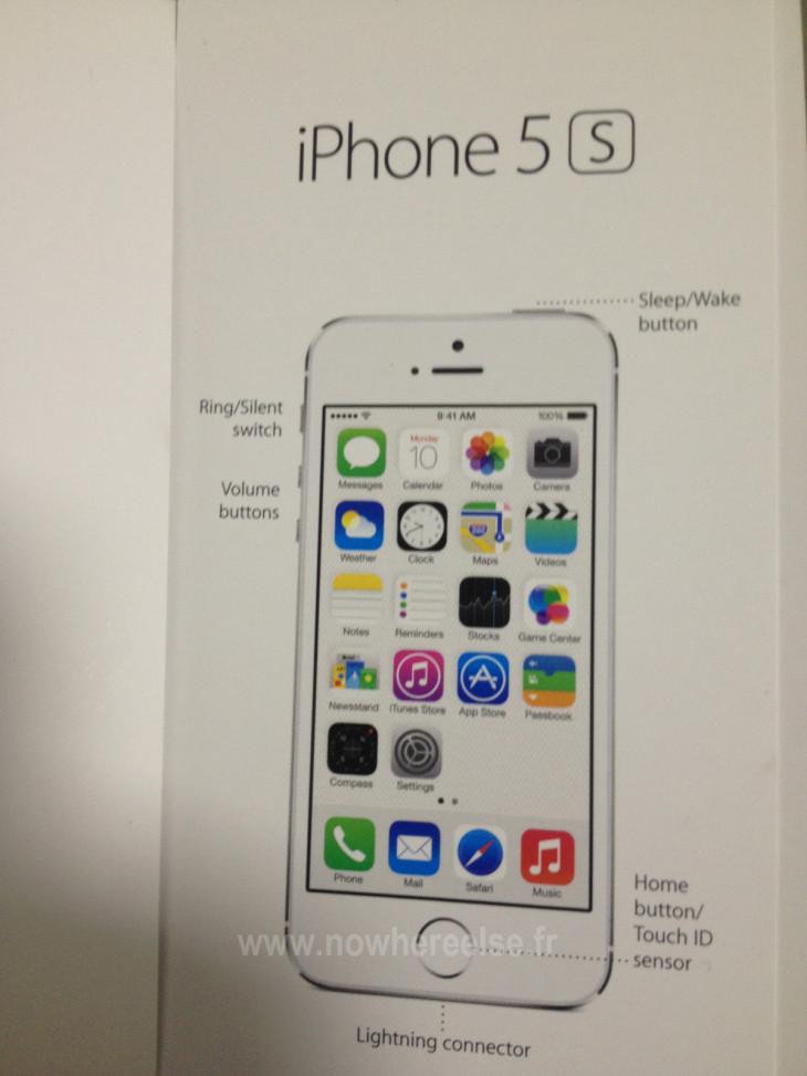 iPhone 5S : un mode d'emploi confirme le lecteur d'empreintes