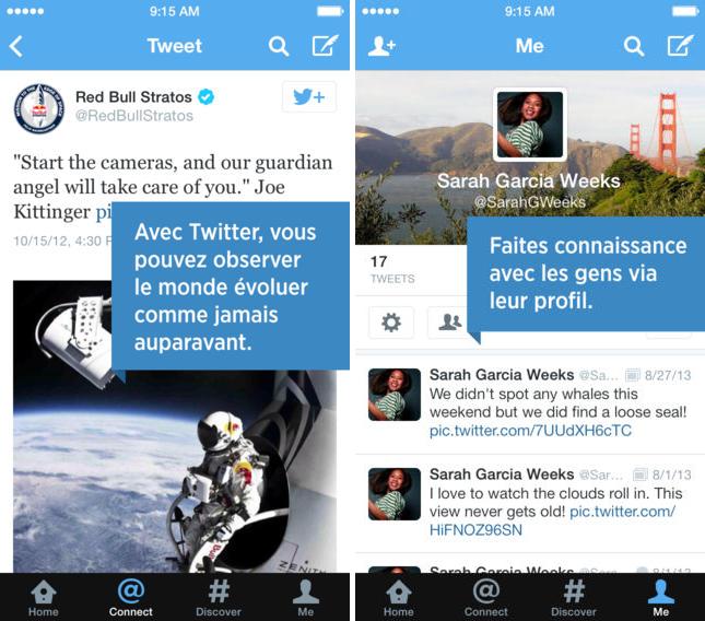 Twitter iOS : ajout de filtres dans les recherches