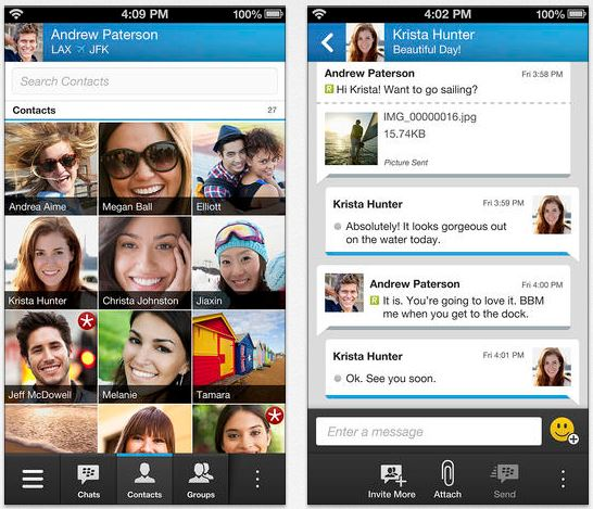 BBM iPhone disponible sur l'App Store