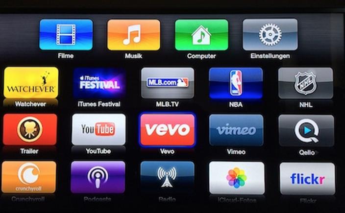 Apple TV : la chaîne NHL en France et Vevo en Allemagne