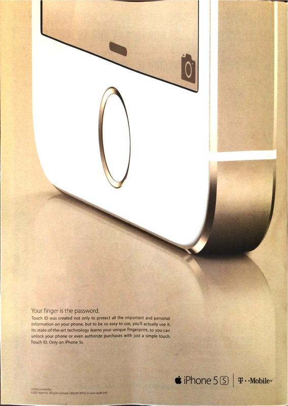 iphone 5s premi re publicit sur un magazine am ricain. Black Bedroom Furniture Sets. Home Design Ideas