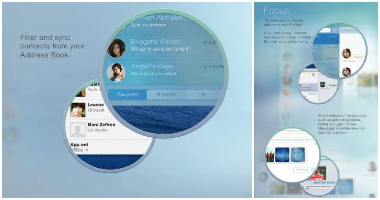 Mac : concept de redesign de l'application Messages