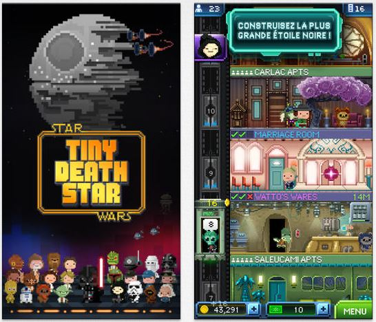 Star Wars Tiny Death Star disponible sur l'App Store