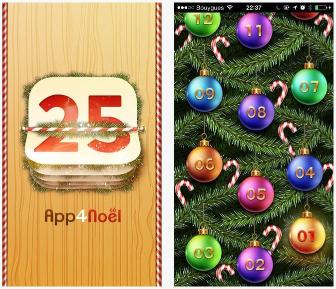 App4Noël : le Calendrier de l'Avent ultime pour iPhone