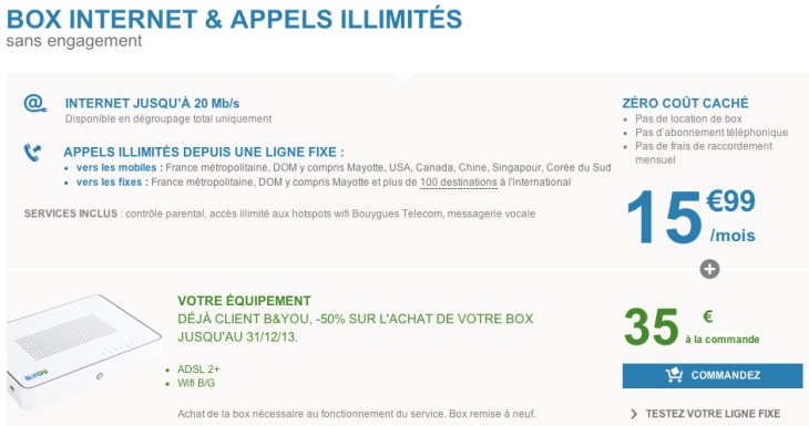 B&YOU lance une box internet à 15,99€/mois