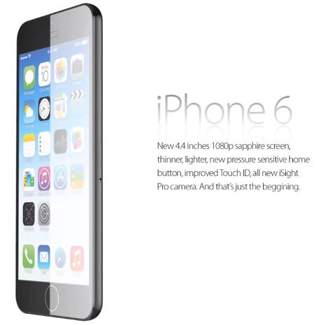 iPhone 6 : concept vidéo avec écran 4,4 pouces