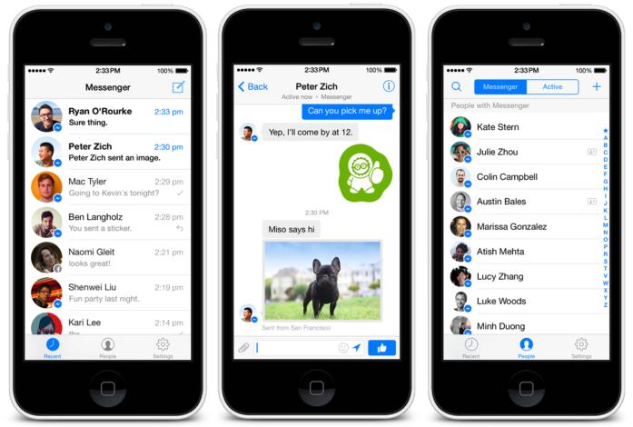 Facebook Messenger : intégration des contacts du répertoire et design iOS 7