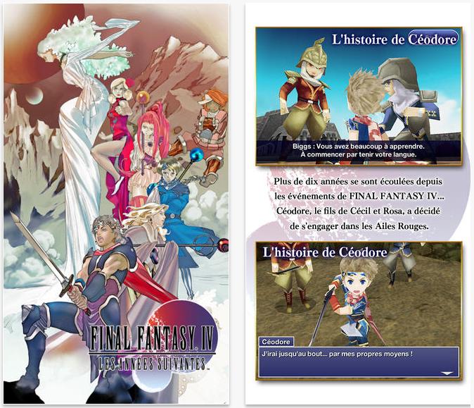 Final Fantasy IV : Les années suivantes disponible sur l'App Store
