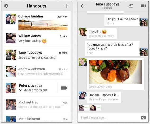 App Store : mises à jour de Google Drive et Hangouts