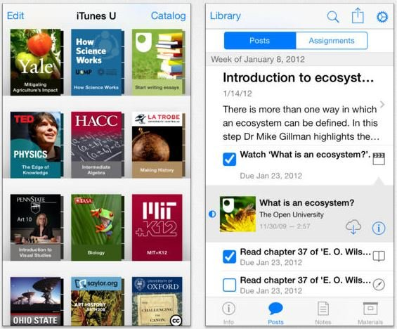 Apple : iBooks et iTunes U mis à jour pour iOS 7