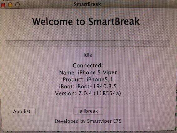 SmartBreak : jailbreak iOS 7 iPhone 5 imminent ?