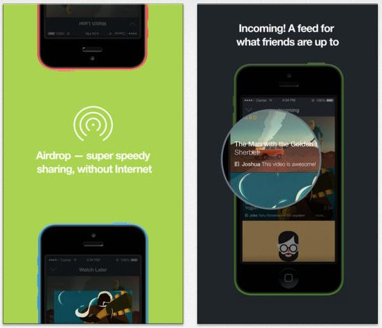 Vimeo iOS supporte désormais Airdrop