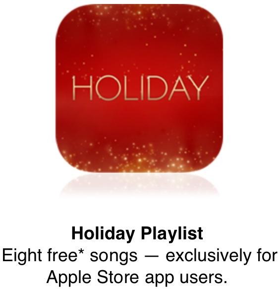 Playlist gratuite pour Noël dans l'App Store