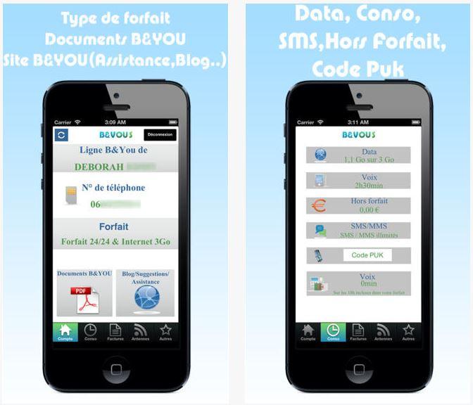 B&VOUS : le suivi conso B&YOU sur iOS