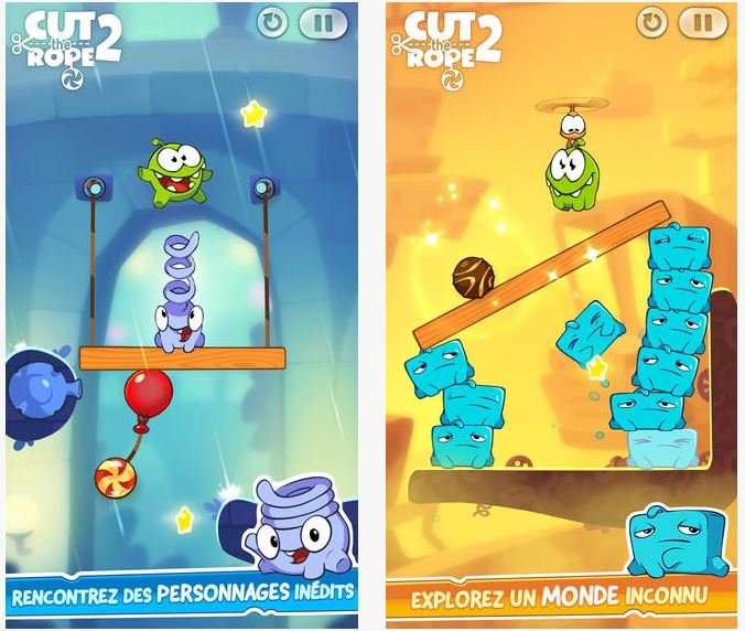 Cut the Rope 2 passe gratuit sur iPhone, iPad & iPod Touch
