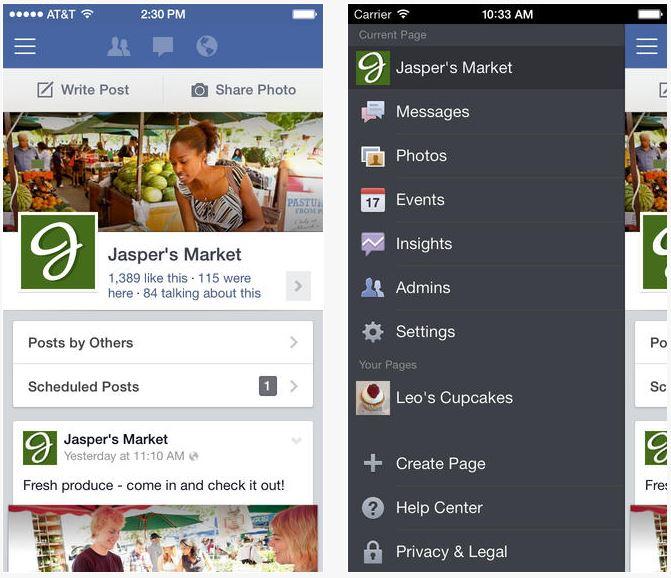 Facebook : mise à jour du Gestionnaire de Pages