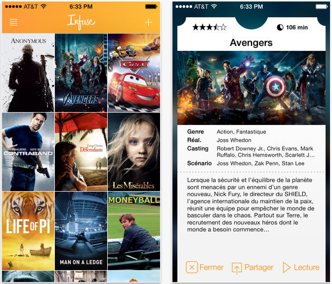 Infuse 2 : le lecteur multimédia iPhone & iPad adopte iOS 7