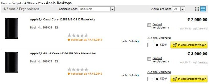 Mac Pro : date de sortie le 17 décembre ?