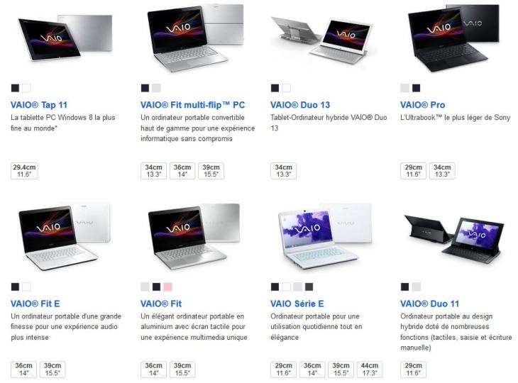 Une nouvelle gamme d'ordinateurs portables et notebooks