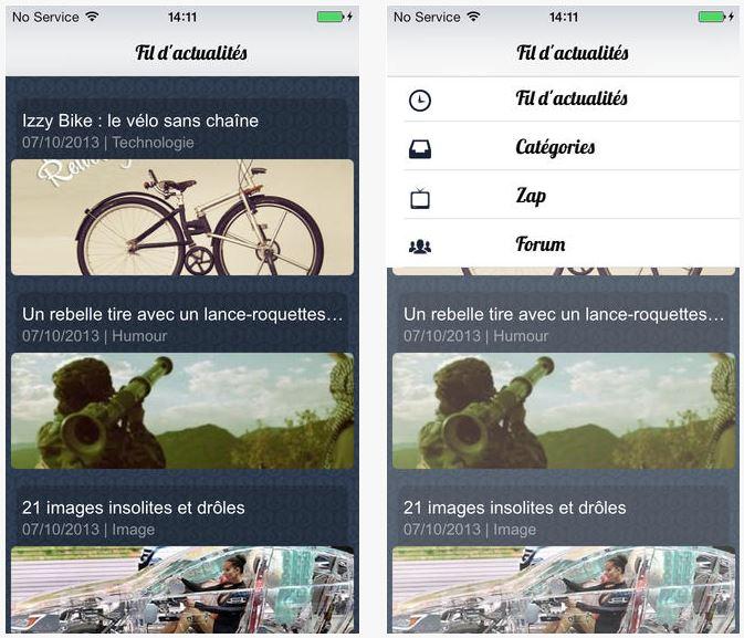 Spi0n : l'insolite du web désormais sur iOS 7