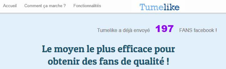 Tumelike : gagner des milliers de fans Facebook
