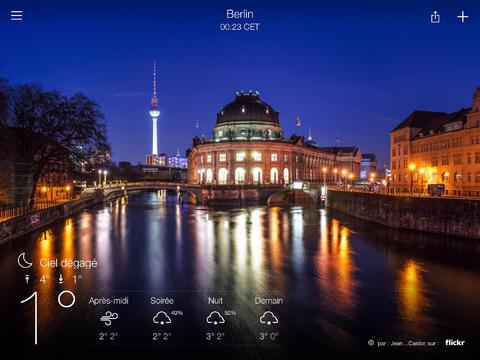 Yahoo Météo : enfin disponible pour iPad